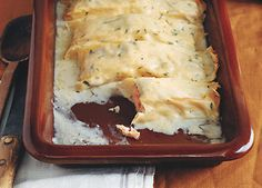 Find the recipe for Salmon Cannelloni with Lemon Cream Sauce and other herb recipes at Epicurious.com