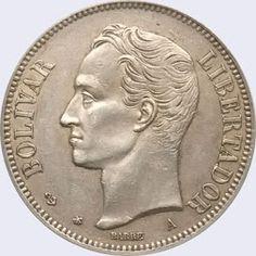 Monedas de 1 Venezolano Diseño A, Tipo A 1876 Características del Diseño A,…