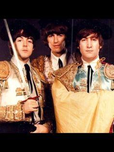 Paul McCartney. George Harrison, and John Lennon (Matador Beatles)