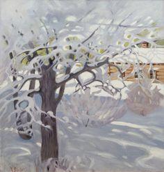 "pintoras: ""Helmi Biese (Finnish, 1867 - Sunny winter day (via Bukowskis) "" Painting Snow, Winter Painting, Pierre Auguste Renoir, Snow Scenes, Winter Scenes, Snow Art, Edvard Munch, Digital Museum, Collaborative Art"