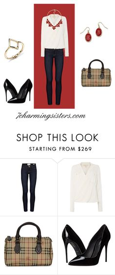 """""""Strategically Sexy"""" by paula-charming on Polyvore featuring Frame Denim, Michael Kors, Burberry and Dolce&Gabbana"""