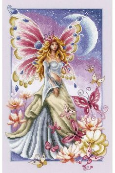 image of Butterfly Fairy Cross Stitch Kit