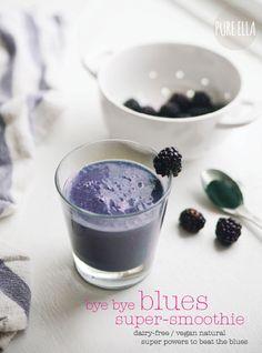 Pure Ella | Bye Bye Blues Super-Smoothie : anti-depression smoothie