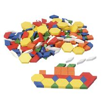 Discount School Supply - Wood Pattern Blocks - 250 Pieces