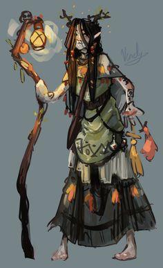 [OC][Art] Bog Witch Character Concept