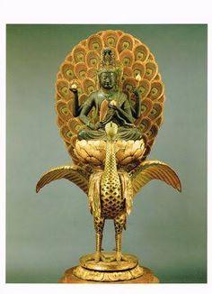 Buddha Canvas, Buddhist Art, Christmas Themes, Asian Art, Japanese Art, Buddhism, Sculptures, Statue, Peacock