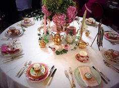 Fabulous idea for a Ball or Wedding event - go to fancy vintage china at ... https://www.facebook.com/FancyVintageChina?notif_t=fbpage_fan_invite