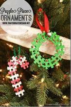 Puzzelstukjes ornament (kerst)