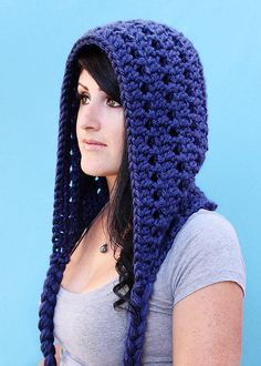 Fireside Scoodie (3 Variations: Hooded Infinity Scarf + Hooded Scarf with Pockets + Just the Hood with Braided Ties) $5