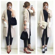 Media?size=l Korean Fashion Work, Korea Fashion, Japan Fashion, Spring Outfits Japan, Fall Outfits, Fashion Outfits, Womens Fashion, Bug Clothing, Spring Fashion