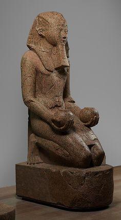 Large Kneeling Statue of Hatshepsut  Date: ca. 1473–1458 B.C.   Deir el-Bahri, Senenmut Quarry, MMA 1927-1928  Accession Number: 29.3.1