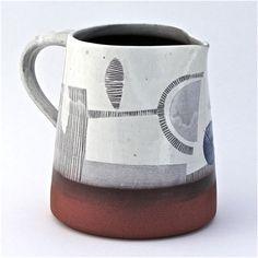 Karen McPhail, slip decorated jug. #ceramics, #pottery