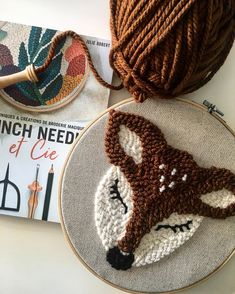 is the popular handcrafted Punch Needle of the last days? - What is punch needle, how is it done? Punch needle examples -What is the popular handcrafted Punch Needle of the last days? - What is punch needle, how is it done? Punch Needle Kits, Punch Needle Patterns, Felted Wool Crafts, Glitter Fabric, Rug Hooking, Embroidery Kits, Artisanal, Craft Kits, Perler Beads