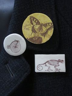 From Maija's blog, paper clay transfers.