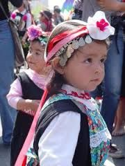 Hermosa niña mapuche