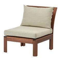 ÄPPLARÖ / HÅLLÖ Chair, outdoor - brown stained/beige - IKEA