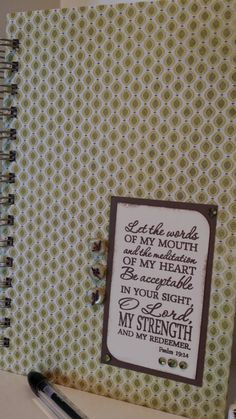 Check out this item in my Etsy shop https://www.etsy.com/listing/235798200/christian-prayer-journal-with-scripture