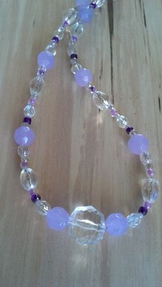 Soft+Lavender+and+Iridescent+Glass+Beaded+17+by+FlowerFelicity,+$16.00