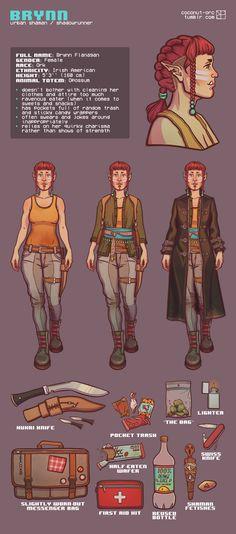 Brynn - character sheet by ViolletCZ