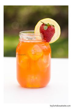 Strawberry lemonade.... I just made this. I couldn't strain all the strawberry seeds...but it's still delish!!!!