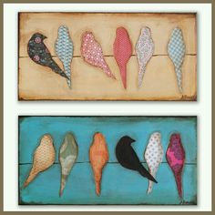Made to order Mixed Media Bird Silhouette Art on Canvas. , via Etsy. Bird Silhouette Art, Decoupage, Paper Art, Paper Crafts, String Art, Bird Art, Altered Art, Art Projects, Mixed Media