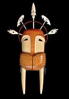 Walrus mask.  Yup'ik mask.  North American.  K.L.V.: April 2013