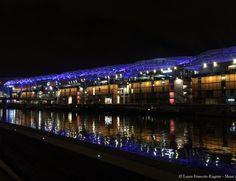 Confluence nuit Lyon #lyon #france #tourisme