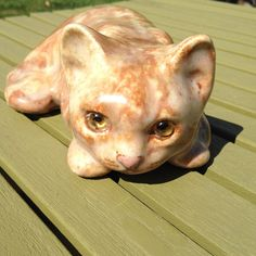 Large ginger Winstanley ceramic cat  FREE UK by TheGeneralOffice