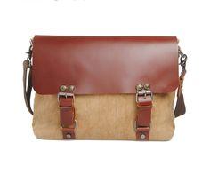 Designer Canvas Messenger Bag Canvas Leather Bag