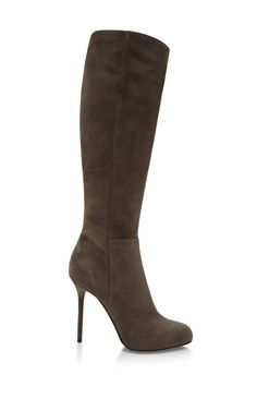 Shop Kalika Suede Knee Boots by Sergio Rossi Now Available on Moda Operandi