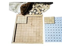 Wooden educative game for learning basic math principles