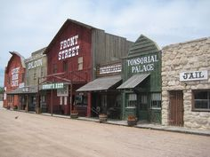 Front Street and Cowboy Museum in Ogallala, Nebraska.