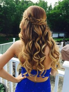 See more ideas about long hair styles braided hairstyles and short hair styles. Down hairstyles complement strapless dresses best. 31 Half Up Half Down Prom Hairstyles Hair Styles Long Prom Dance Hairstyles, 2015 Hairstyles, Night Hairstyles, Braided Hairstyles, Trendy Hairstyles, Teenage Hairstyles, Cute Hairstyles For Prom, Sweet 16 Hairstyles, Semi Formal Hairstyles