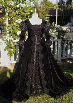 Ever After Fantasy Medieval Gothic Black Velvet by RomanticThreads