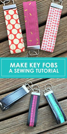Emmaline Bags: Sewing Patterns and Purse Supplies: How To Make a Key Fob: A Free Tutorial!  Awesome!