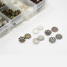 525pcs/box 5Colors Metal Flower Bead Caps 9x4mm Vintage Filigree DIY Jewelry Making Findings Accessories components supplies(China (Mainland))
