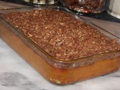 My family begs me to make this creamy baked dish every Thanksgiving and Christmas. What makes it so good is the pecan topping! Try it and I'm sure it will become your new tradition!  Ingredients 4 cups