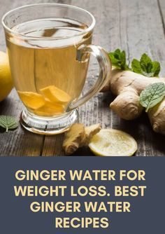 Ginger water for weight loss. Lemon ginger water recipe Quickest Way To Lose 20 Pounds Fighting with overweight is a difficult task for many people. Everybody wants to lose weight fast and not making . Weight Loss Meals, Weight Loss Water, Weight Loss Drinks, Losing Weight, Recipe For Ginger Water, Lemon Ginger Water, Recipe Ginger, Ginger Tea, Detox Water With Ginger