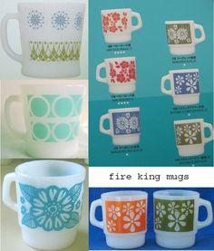 print & pattern: FIRE KING MUGS