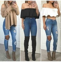 Jeans outfit outfit idea summer outfits cute outfits spring outfits date outfit party outfits fashion style stylish clothes trendy clubwear streetwear Date Outfits, Cute Party Outfits, Outfits Spring, Heels Outfits, Cute Fall Outfits, Teen Fashion Outfits, Look Fashion, Stylish Outfits, Cool Outfits