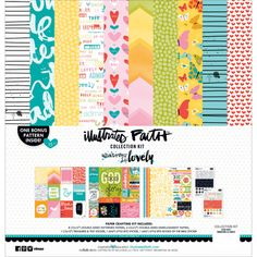 "Illustrated Faith Whatever Is Lovely Bella Blvd Collection Kit 12"" x 12"" - love the whole set!"