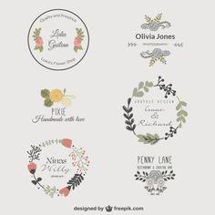 Flowers vector logo floral wreaths 57 ideas for 2019 Logo Floral, Flower Logo, Logo Rond, Logo Image, Free Logo Templates, Etiquette Vintage, Bakery Logo, Wedding Logos, Vintage Logo Design