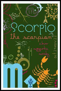 Zodiac SCORPIO 4x6 Digital Print $16