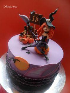 Sonata Torte Halloween Fondant Cake, Bolo Halloween, Halloween Cakes, Halloween Treats, Birthday Cakes For Teens, Happy Birthday Cakes, Cupcakes, Cupcake Cakes, Gorgeous Cakes