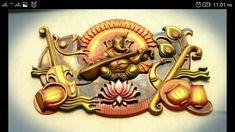 Clay Wall Art, Mural Wall Art, Mural Painting, Wall Art Decor, Paintings, Lc Logo, Diwali Candles, Name Plate Design, Ganesh Lord