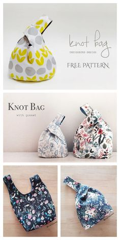 Bag Patterns To Sew, Easy Sewing Patterns, Fabric Patterns, Sewing Tutorials, Sewing Crafts, Sewing Projects, Purse Patterns Free, Apron Patterns, Bag Tutorials