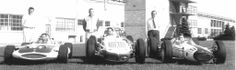 1963 Indy Car builders,L to R Mickey Thompson,A.J.Watson,Colin Chapman