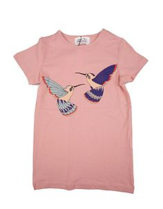 Little Pieces - Old pink T-shirt Hummingbird - Pepatino.be