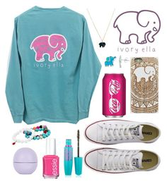"""Ivory Ella"" by nazzbelle ❤ liked on Polyvore featuring Converse, Maybelline, Dee Berkley, Essie and Topshop"