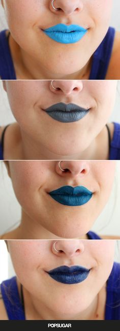 Pin for Later: I Tried 4 Shades of Blue Lipstick So You Don't Have To